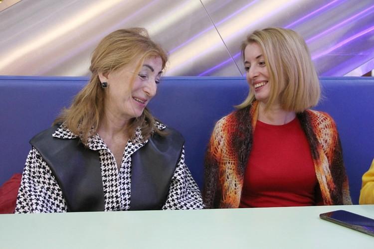 Татьяна Чеберенева с дочкой Екатериной Ефремовой