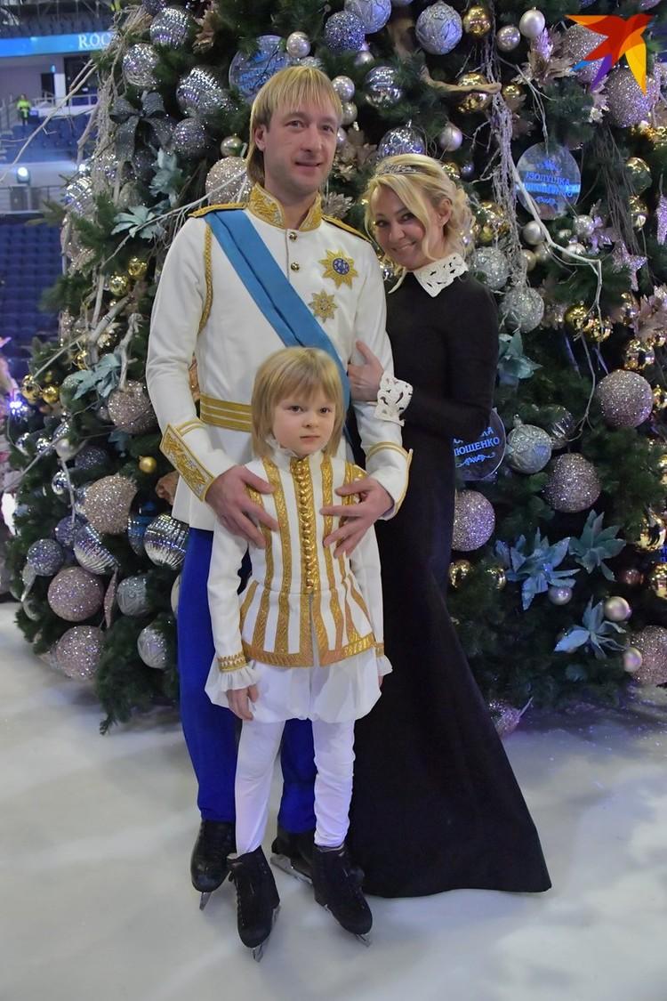 Евгений с семьей - женой Яной и сыном Сашей