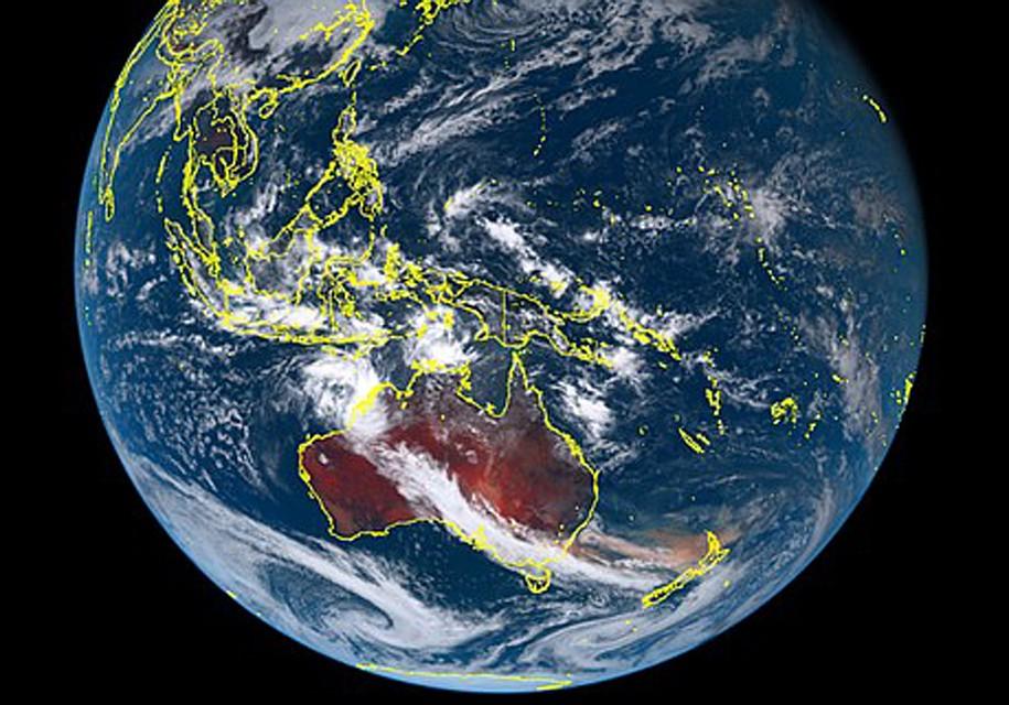 Фото Австралии с японского спутника.