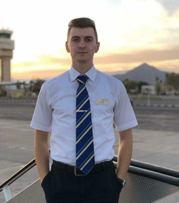 Бортпроводник Денис Лыхно