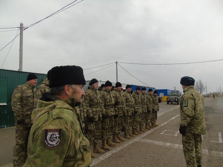 Бойцы батальона на построении