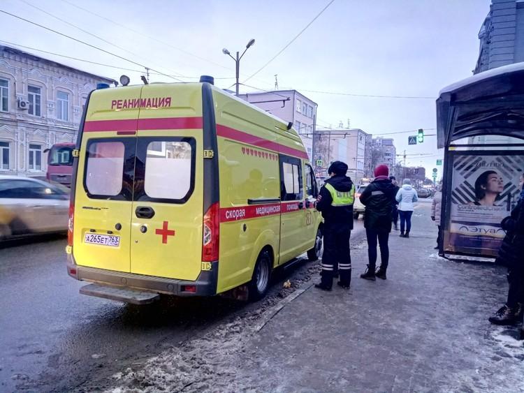 Пострадавшую увезли в больницу Пирогова