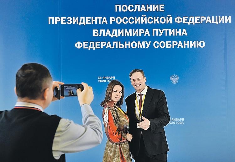 Журналисты накануне Послания делали фото на память. Чувствовали, что - историческое!