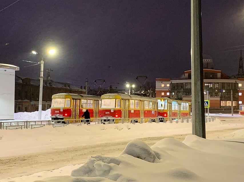 Трамваи в барнаульском депо Фото: БОРЗОВ Денис