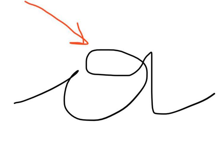 Если, к примеру, в букве «а» (см. на фото) делается петелька всегда, могут быть проблемы в энергетике на уровне груди.