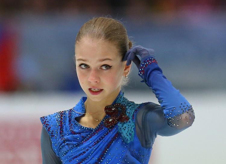 Александра Трусова - третья.