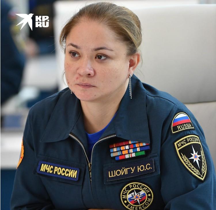 Директор Центра экстренной психологической помощи МЧС Юлия Шойгу.