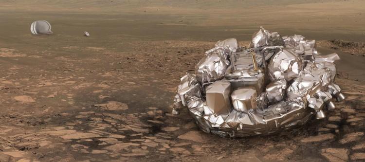 """Так """"Скиапарелли"""" должен был выглядеть, успешно сев на Марсе."""