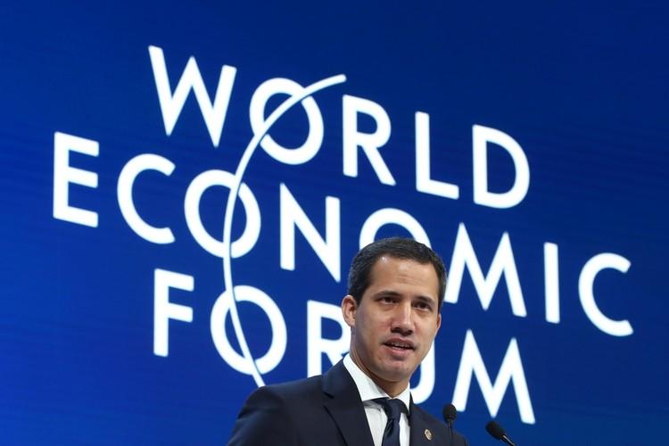 Хуан Гуайдо на площадке мирового экономического форума в Давосе.
