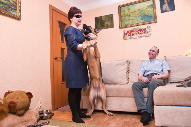 С появлением собаки Надя стала более самостоятельной.
