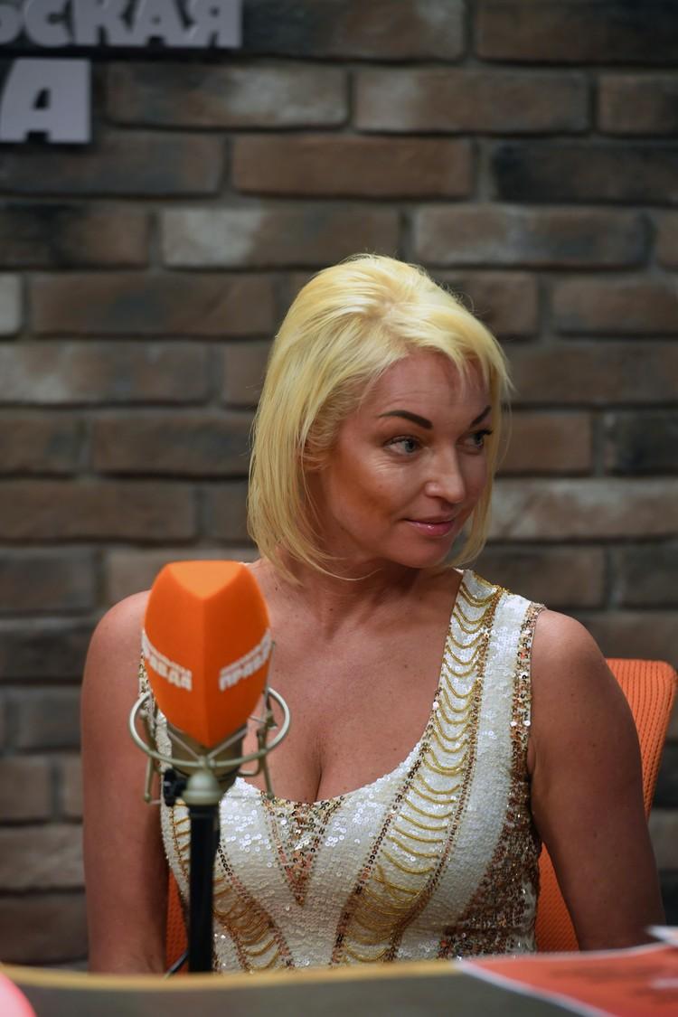 Анастасия Волочкова на Радио «Комсомольская правда»
