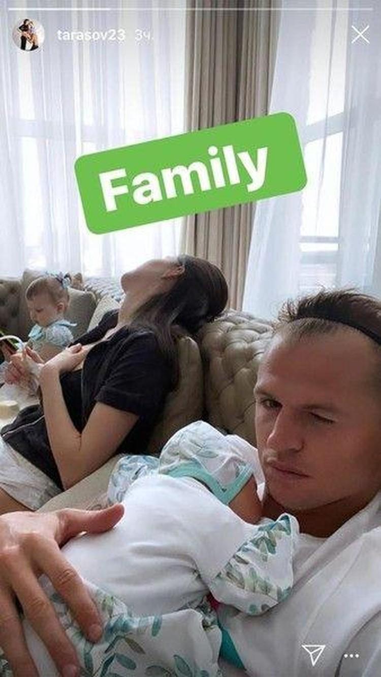 Дмитрий опубликовал в блоге снимок семейной идиллии