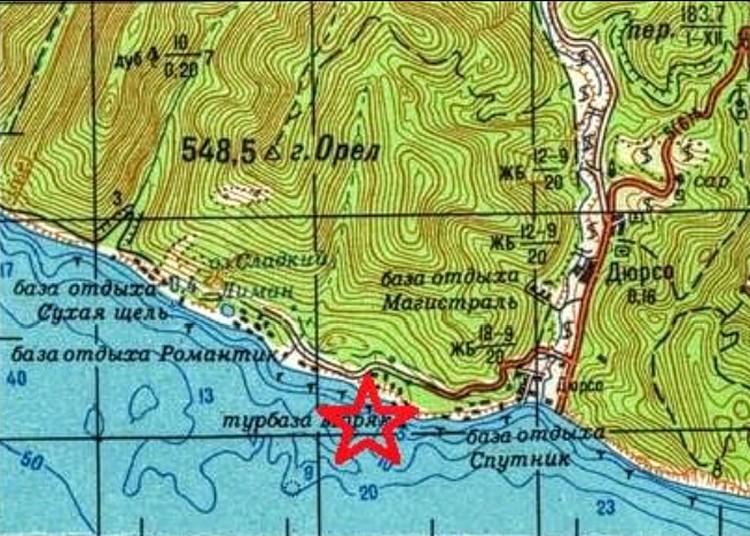 Карта поисковиков - именно здесь обнаружили сбитый самолет. Фото: kubpoisk.ru