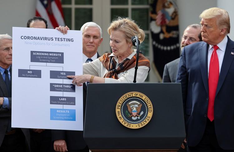 Американцам рассказали, как в стране организуют систему тестирования населения на коронавирус.