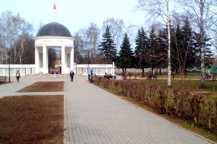 В парке Победы людей мало