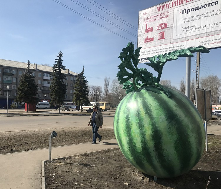 Достопримечательность Балашова - гигантский арбуз.