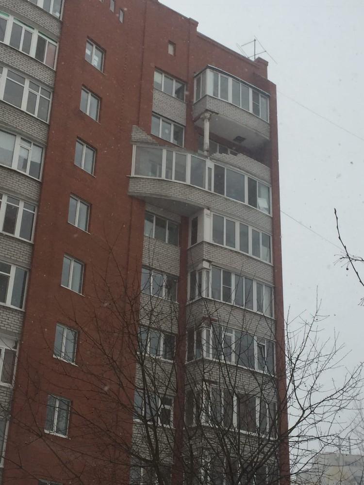 Балкон. Вид с утра. Фото: Елена Романова (ЧС Тюмень)