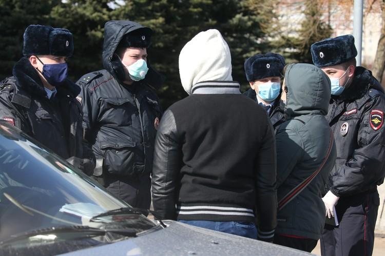 В столице усиливаются меры по контролю за соблюдением режима самоизоляции. Фото Петр Ковалев/ТАСС