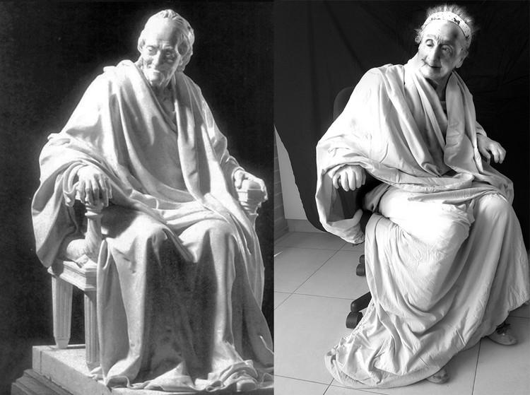 """Жан-Антуан Гудон """"Вольтер, сидящий в кресле"""". Фото: Galina Bleikh"""