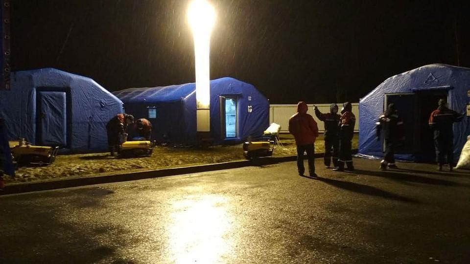 Для мигрантов развернули госпиталь Фото: администрация Ленобласти