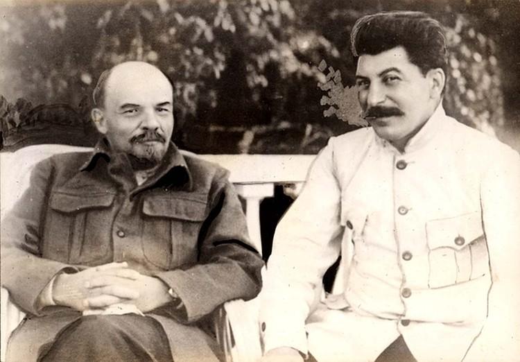 Владимир Ленин и Иосиф Сталин, 1922 год.