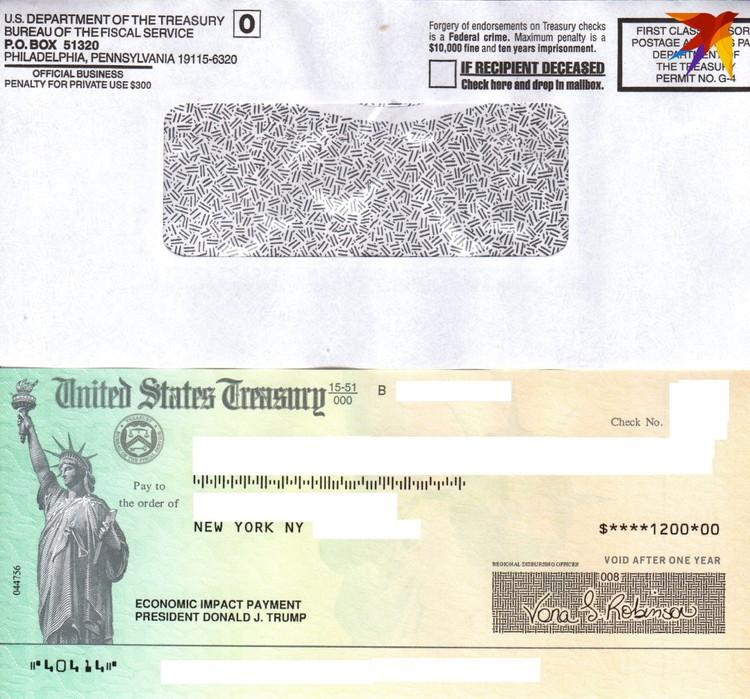 Как выглядит чек от Дональда Трампа.