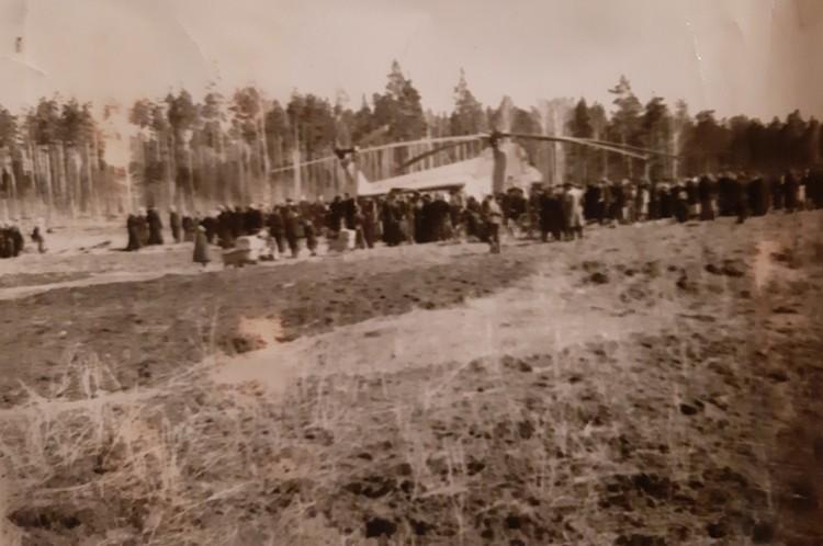 Место падения истребителя, который был ошибочно принят за самолет шпиона. Фото: Дегтярский историко-производственный музей