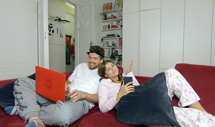 Актриса и ее супруг Игорь Чехов играют молодую пару в комедийном сериале «Все вместе»
