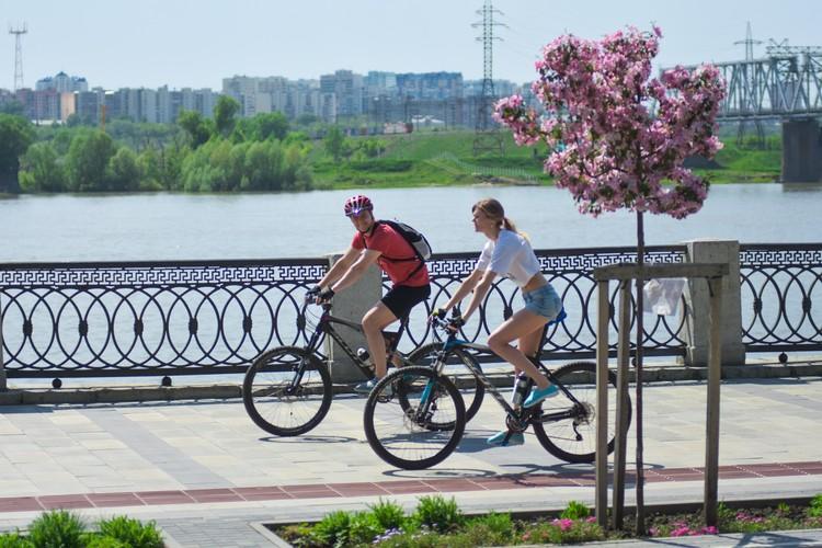 Отличное место для велосипедных прогулок.