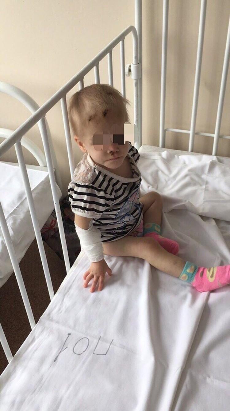 Девочка попала в больницу в 2018 году в тяжелом состоянии. Фото: предоставлено волонтерами
