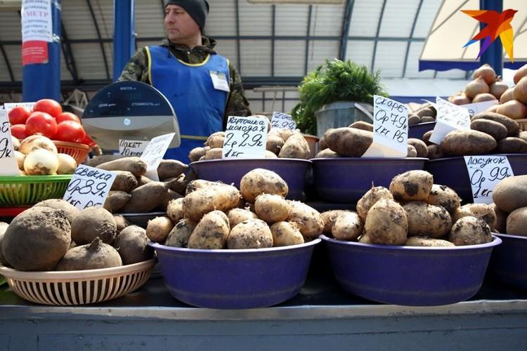 Молодой белорусской картошки на рынке пока нет - холодно!
