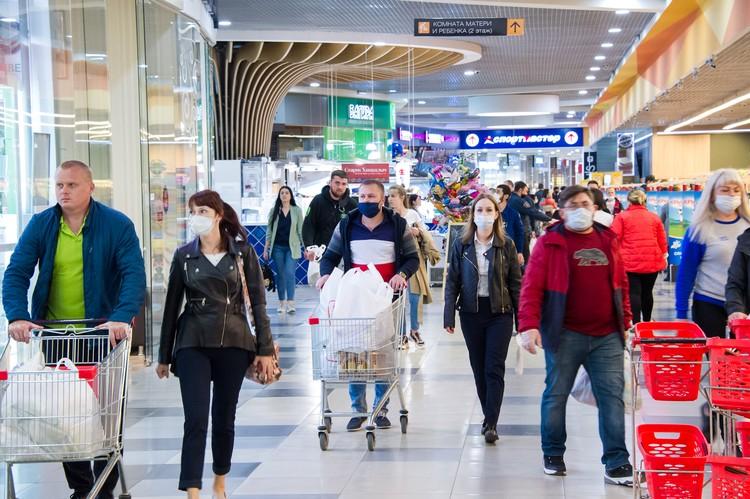 Люди ринулись за покупками