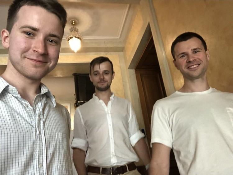 Сева с коллегами в офисе ВКонтакте