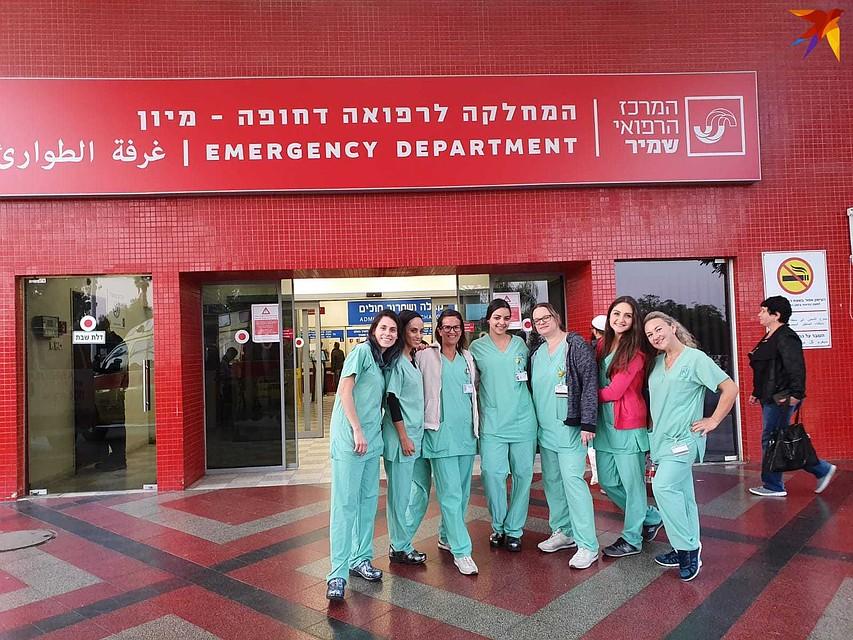 За 10 дней до экзамена в Высшей школе медсестер, в Израиле объявили карантин. А чуть позже студентам выпускного курса разрешили работать без диплома на время пандемии. Фото: личный архив.