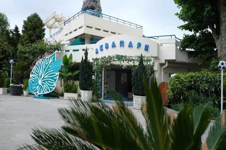 На территории санатория есть аквапарк