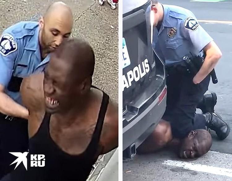 Жесткое задержание Флойда попало на видеокамеры, позднее он умрет в больнице от последствий удушия.
