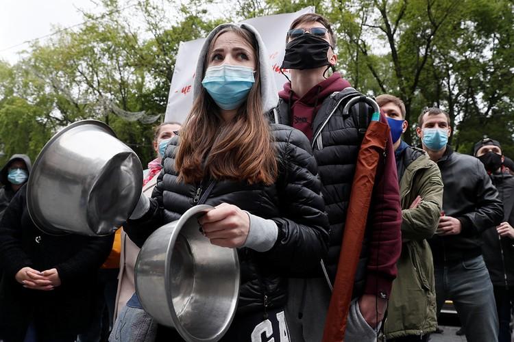 Митинг работников ресторанной индустрии в Киеве.