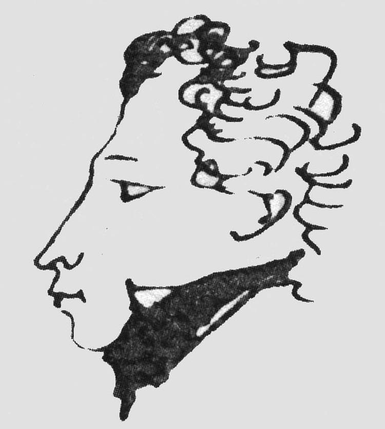 Автопортрет поэта, 1822 год.