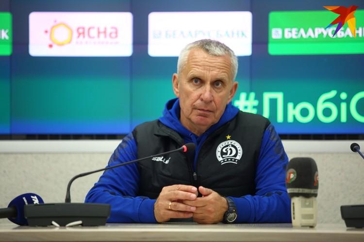 Леонид Кучук на послематчевой пресс-конференции.
