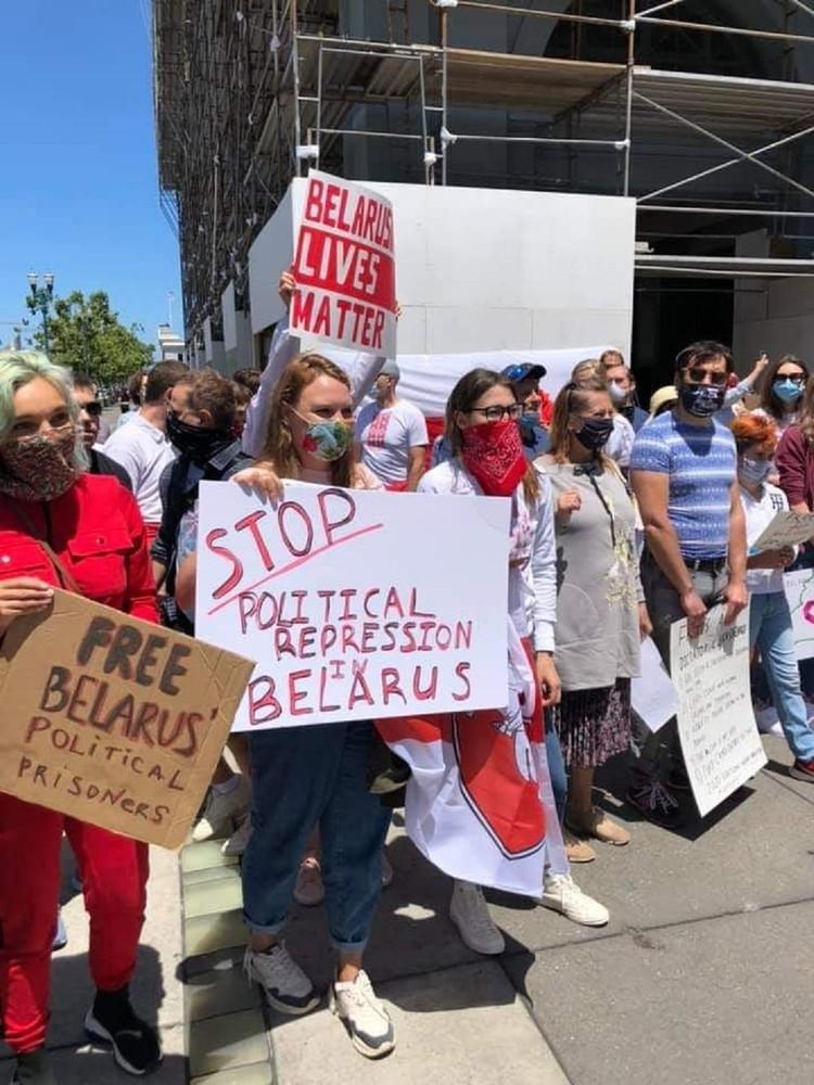 Мирную акцию в США власти не подавляли Фото: Дарья Путейко