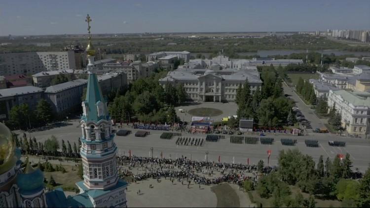 Соборная площадь в день Парада с высоты птичьего полета.
