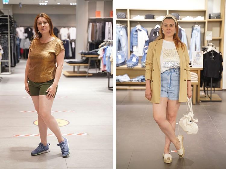Шорты: слева - не модные, справа - модные