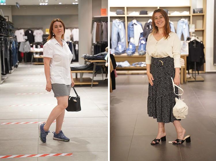 Юбки: слева - непонятной длины, справа - модная юбка-миди.