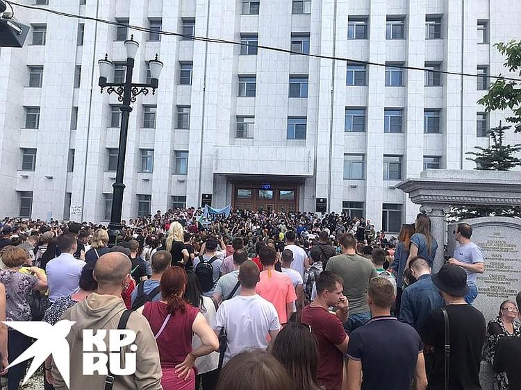 Центр Хабаровска был полностью парализован