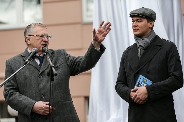 Владимир Жириновский и Михаил Дегтярев в 2016 году. Фото: Сергей Савостьянов/ТАСС