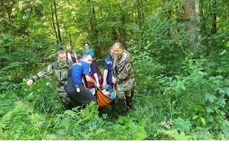 В лесу у пенсионерки случился инсульт. Фото: МЧС.