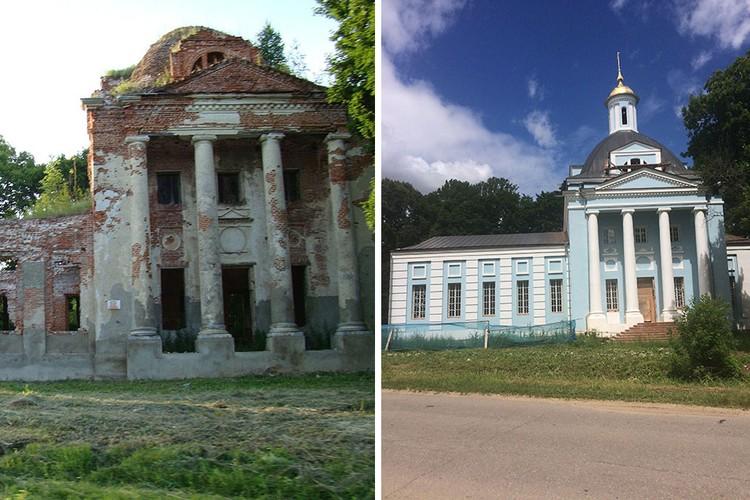 Разрушенная и отреставрированная Введенская церковь. Фото: Kuzini/wikimedia.org/Евгений ЧЕРНЫХ
