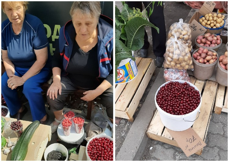 Стихийный рынок на ЧМЗ. Фото: читатель КП