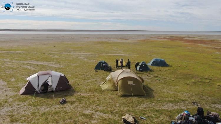 """На точке слияния рек Тарея и Пясины. Фото: предоставлено компанией """"Норникель"""""""