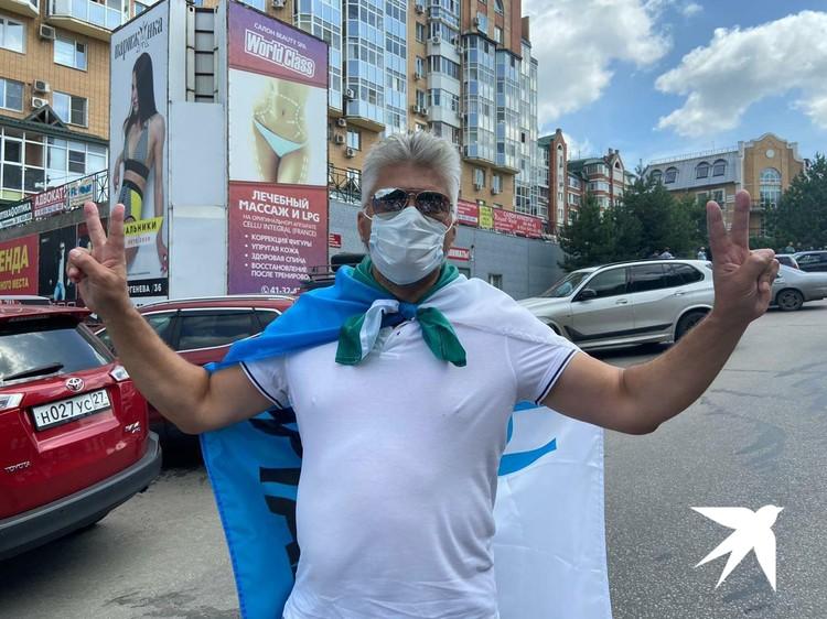 Стартовала акция у здания правительства региона на площади Ленина